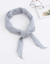 Fashion Light Grey Cotton Scarf Small Scarf