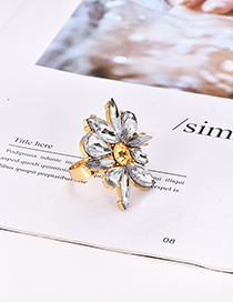 Fashion White Alloy Diamond Ring