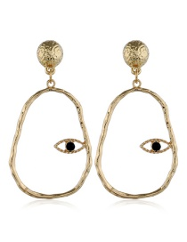 Fashion Gold Round Earring