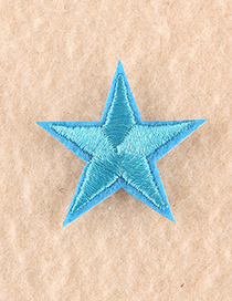 Fashion Navy Embroidered Small Five-pointed Star Patch