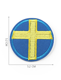Fashion Light Blue Embroidered Badge Patch