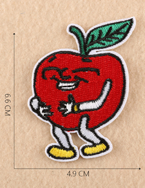 Fashion Red Embroidered Vegetable And Fruit Cloth Label