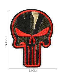 Fashion Red Embroidered Adhesive Tape Patch