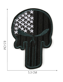 Fashion Black Embroidered Adhesive Tape Patch