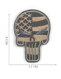 Fashion Gray Embroidered Adhesive Tape Patch