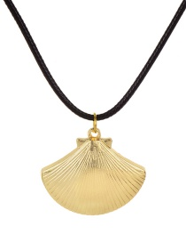 Fashion Black Pu Shell Necklace