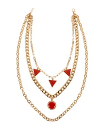Fashion Gold Triangle Necklace
