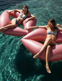 Fashion Rose Gold Inflatable Red Lips Floating Row Swim Ring