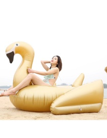 Fashion Gold Inflatable Black Swan Floating Row