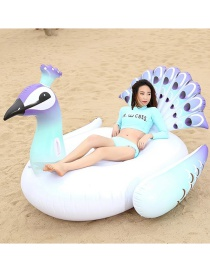 Fashion Large Peacock Mount Thickened Inflatable Floating Row Mount Swimming Ring