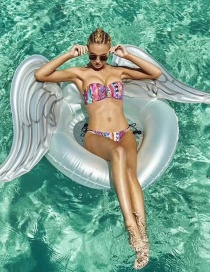 Fashion White Angel Wings Inflatable Wings Swimming Ring