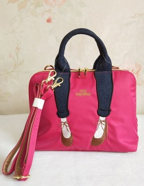 Fashion Red Embroidered Legs Crossbody Bag