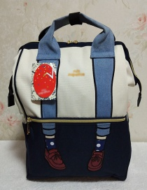 Fashion Blue And White Color Matching Beautiful Shoulder Bag