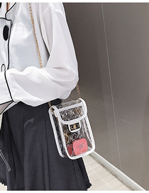Fashion White Transparent Shoulder Messenger Bag