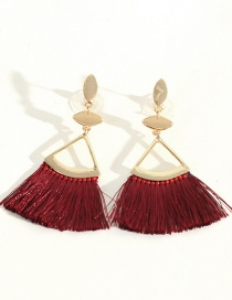 Fashion Red Wine Tassel Earrings