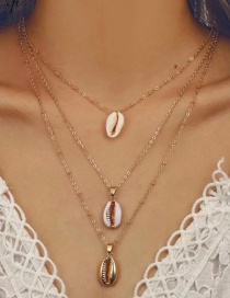 Fashion Gold Multi-layer Shell Necklace Adjustable