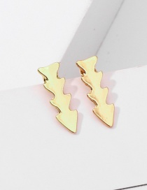 Fashion Gold Irregular Earrings