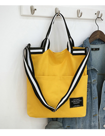 Fashion Yellow Portable Messenger Bag