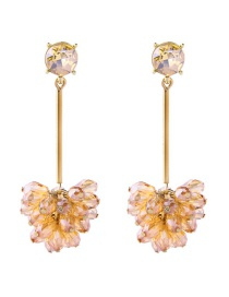 Fashion Yellow Diamond Stud Earrings