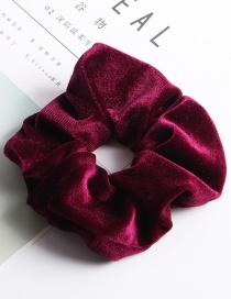 Fashion Large Flannel Ring - Wine Red Fleece Hair Ring