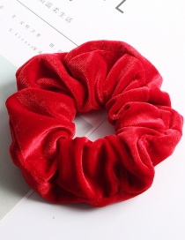 Fashion Large Flannel Ring - Big Red Fleece Hair Ring