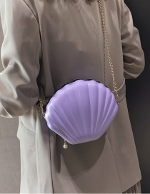 Fashion Purple Chain Shell Shoulder Bag