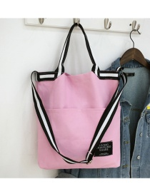 Fashion Pink Ribbon Stitching Shoulder Bag Shoulder Bag