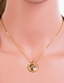 Fashion Gold Roman Gold Coin Necklace