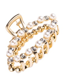 Fashion Gold Diamond-studded Clip