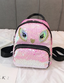 Fashion Pink Eye Sequin Backpack