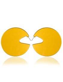 Fashion Yellow Candy-colored Large Circle Earrings