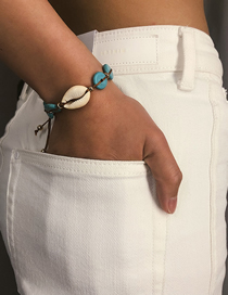 Fashion Blue Adjustable Shell Stone Bracelet