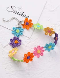 Fashion Color Small Flower Collar