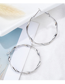 Fashion Small Silver Big Hoop Earrings