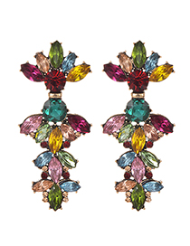 Fashion Color Alloy Stud Earrings