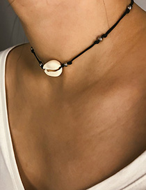Fashion White Natural Shell Beaded Adjustable Necklace