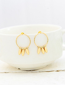 Fashion Gold Alloy Silver Needle Stud Earring