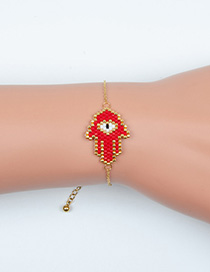 Fashion Red Palm Religious Totem Bracelet