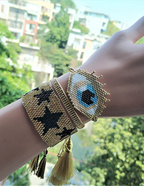 Fashion Golden Suit Rice Beads Woven Bracelet