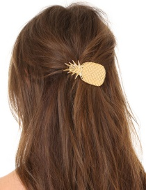Fashion H96 Gold Pineapple Large Spring Clip