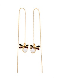 Fashion Gold Dragonfly Pearl Necklace