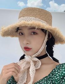Fashion Beige Woven Foldable Lafite Hat