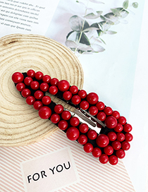 Fashion Red Alloy Non-woven Resin Hairpin