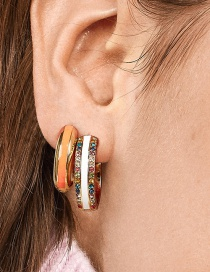 Fashion White Copper Ring Dripping Diamond Can Open The Ear Clip