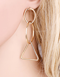 Fashion Gold Circle Earrings