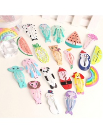 Fashion Random Mix + One Box Cartoon Animal Hair Clip