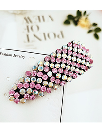 Fashion Round Full Diamond Rose Studded With Hair Clips