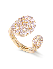 Fashion Gold Plated Gold-plated Full Diamond Ring