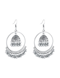 Fashion Silver Bell Big Circle Earrings
