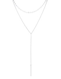 Fashion Platinum Plated Gold Necklace - Charm